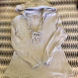 Banana Republic Heritage Gray Hooded Sweatshirt